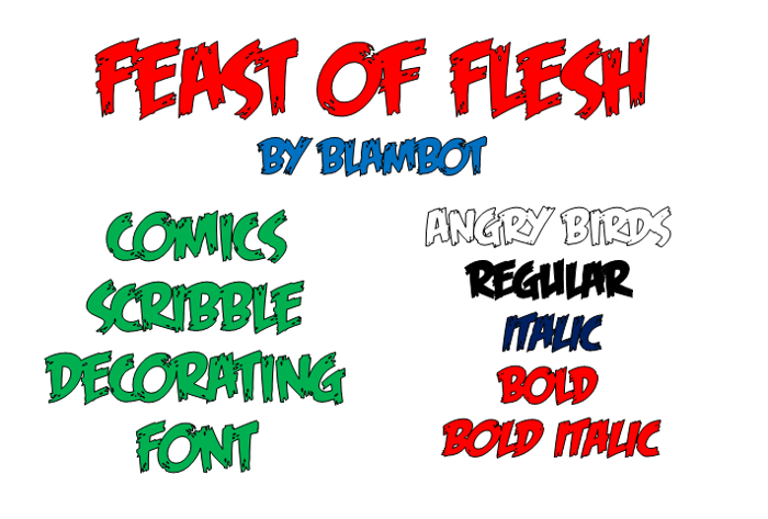 Feast of Flesh BB Font poster