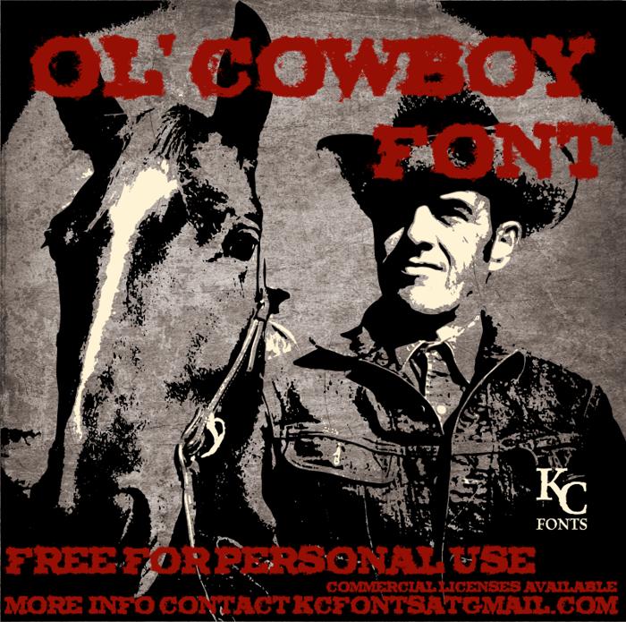 Ol' Cowboy Font poster