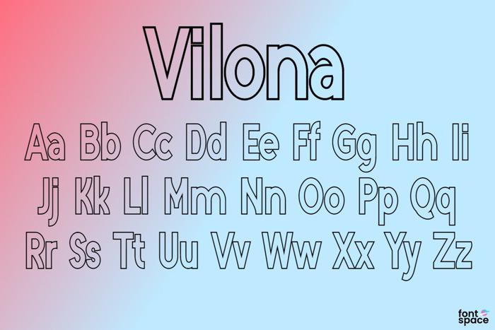 Vilona Font poster
