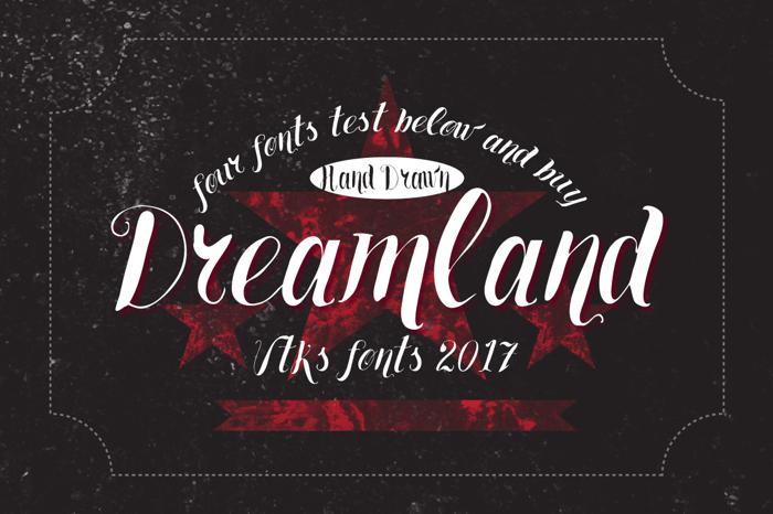 Vtks Dreamland555 Font poster