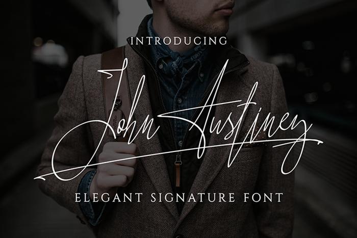 John Austiney Font poster