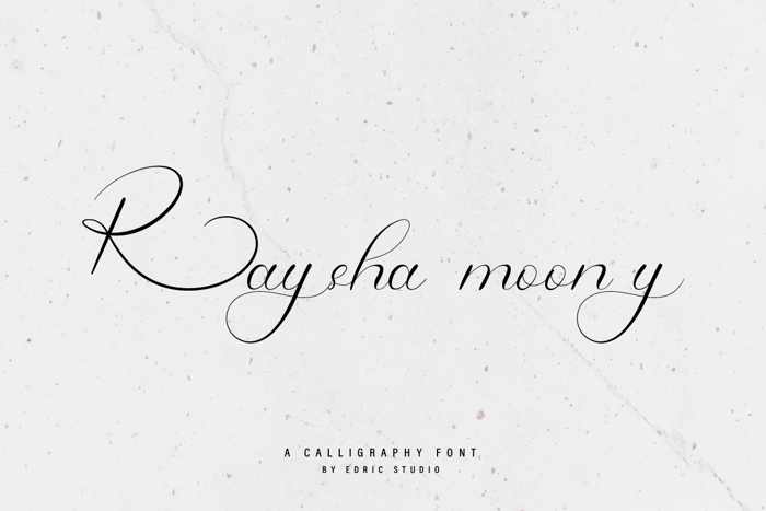 Raysha Moonly Font poster
