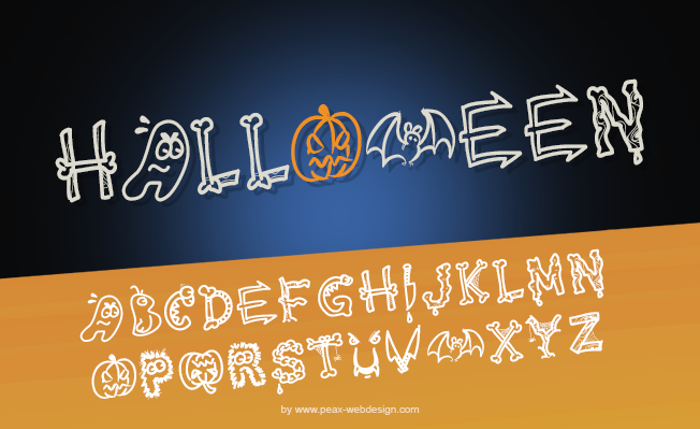 PW HALLOWEEN Font poster