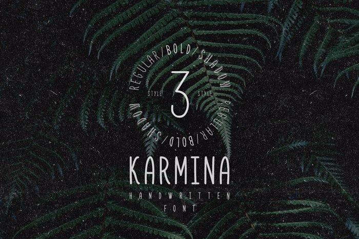 Karmina Bold Font poster