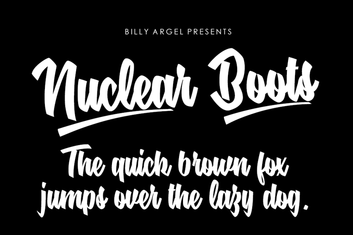 Nuclear Boots Font poster