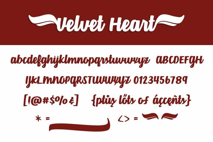 Velvet Heart*  Font poster