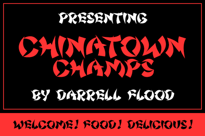 Chinatown Champs Font poster