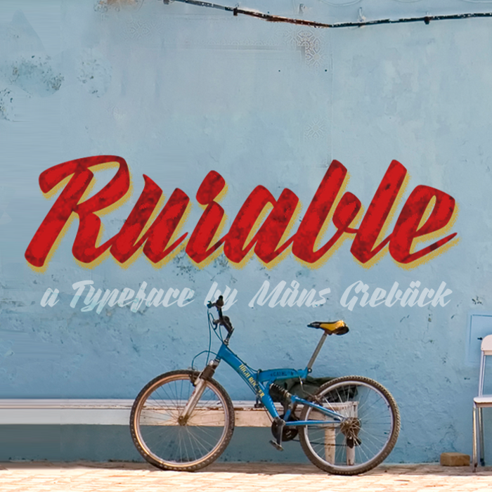 Rurable Font poster