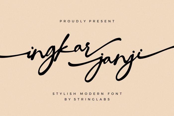 Ingkar Janji Font poster