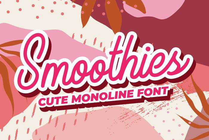 Smoothies Font poster