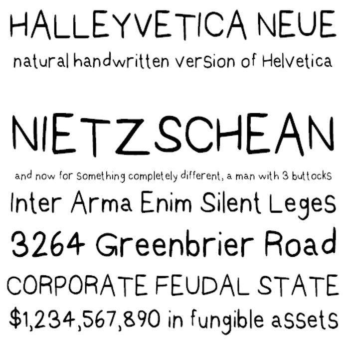 Halleyvetica Neue NBP Font poster
