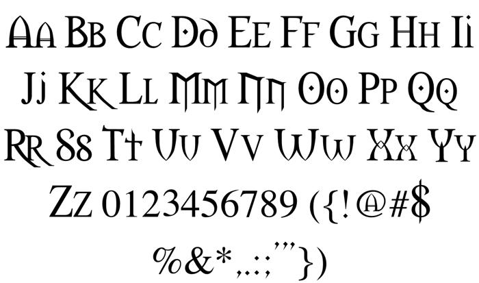 Morpheus Font poster