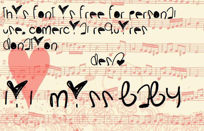 LilMissBaby Font poster
