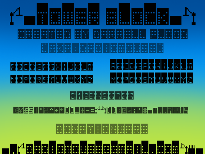 Tower Block Font poster