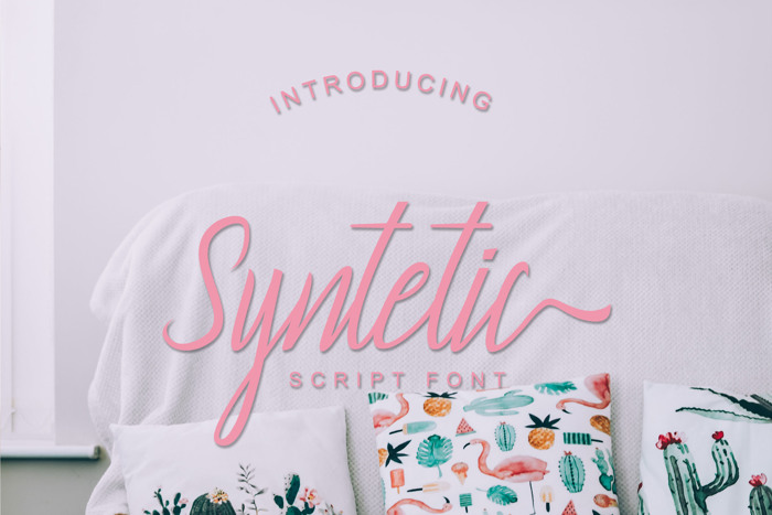 Syntetic Font poster