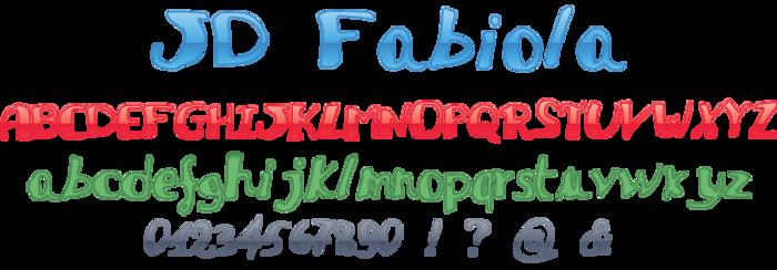 JDFabiola Font poster