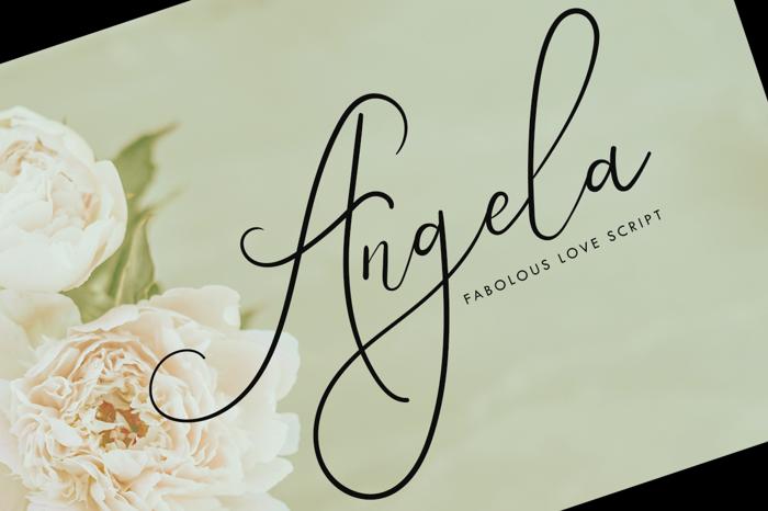Angela Beauty Script Font poster