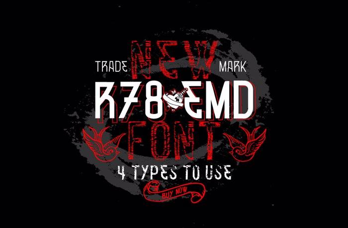 VTKS R78 EMD v2 Font poster