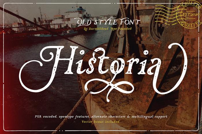Historia Font poster