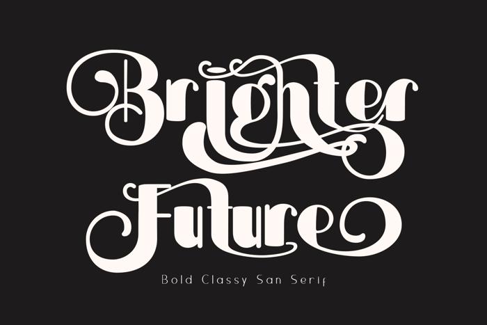 Brightier Font poster