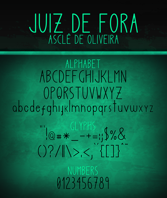 Juiz de Fora Font poster