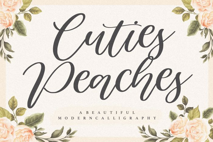Cuties Peaches Font poster