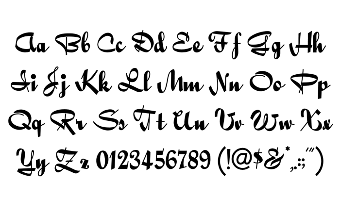 Quigley Wiggly Font poster