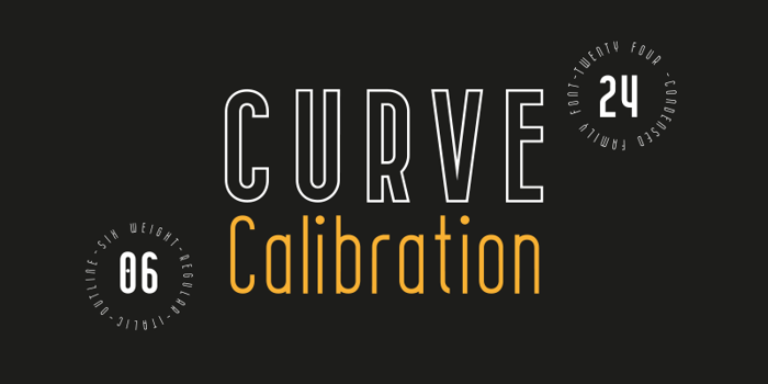 Curve Font poster