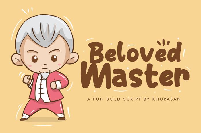 Beloved Master Font poster