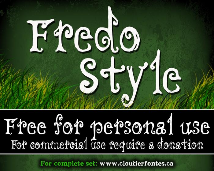 CF Fredo Style Font poster
