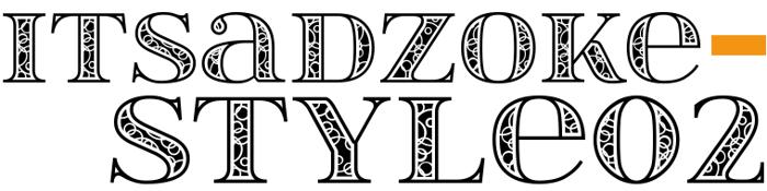 itsadzokeS02 Font poster