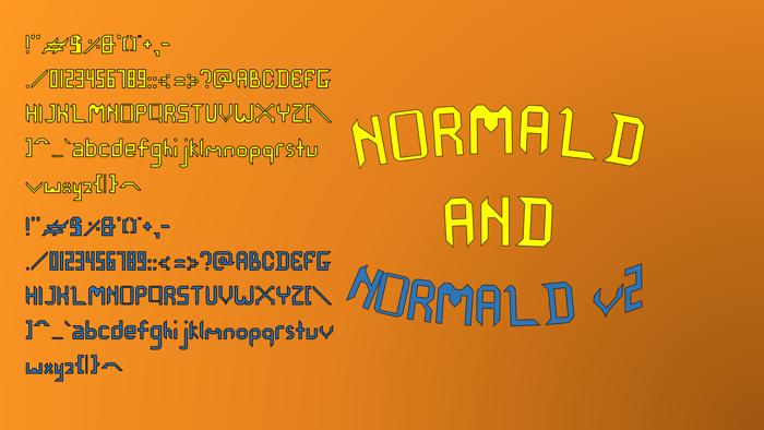 Normald Font poster