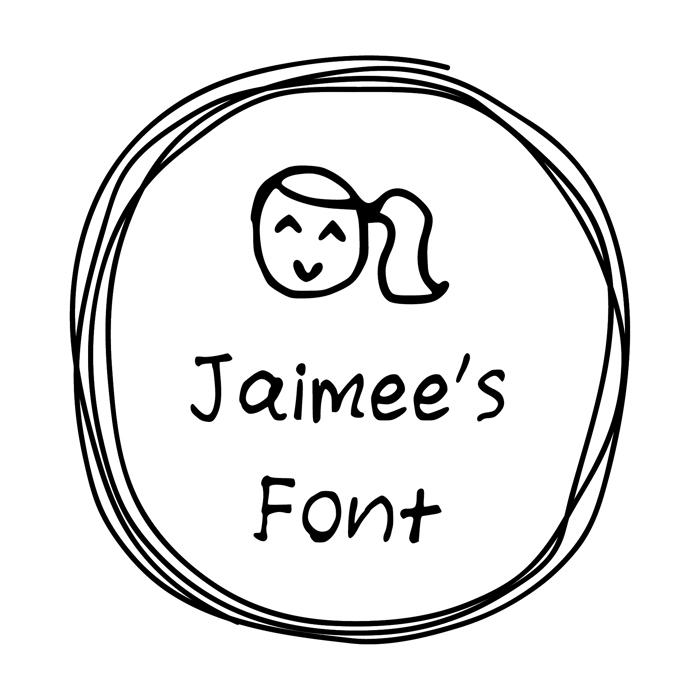 jaimee_s_Font Font poster