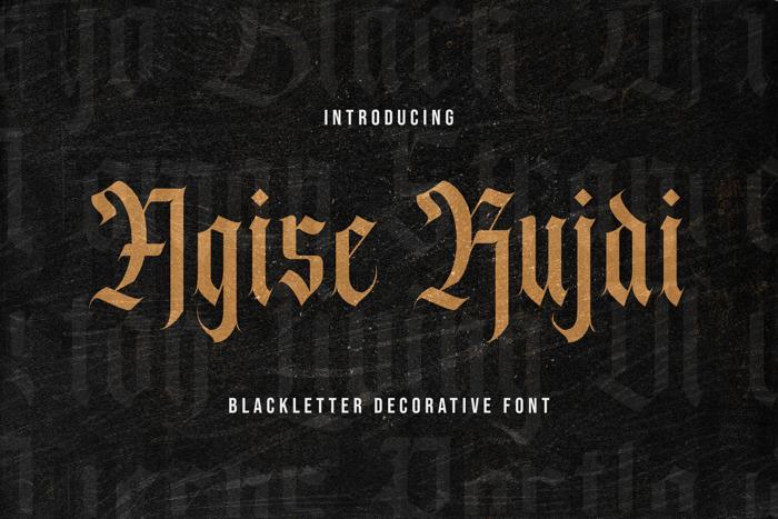 Agise rujdi Font poster