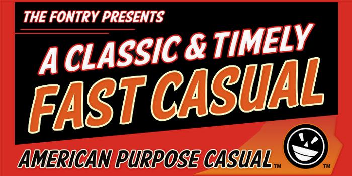 American Purpose Casual Font poster