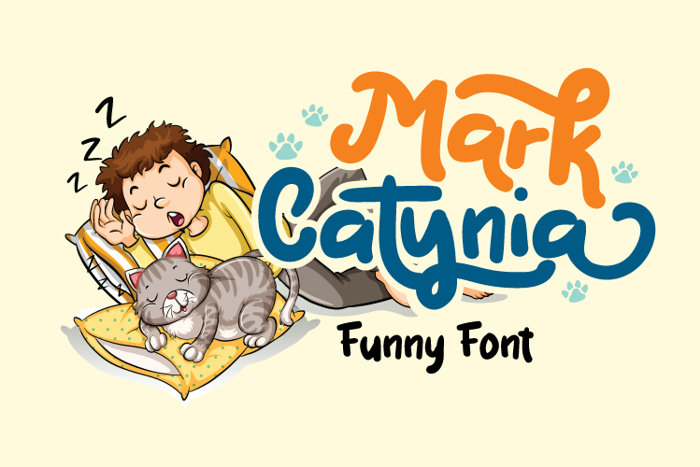 Mark Catynia Font poster