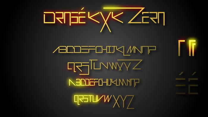 Drosé KXK Zero Font poster