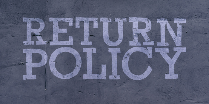 Return Policy DEMO Font poster