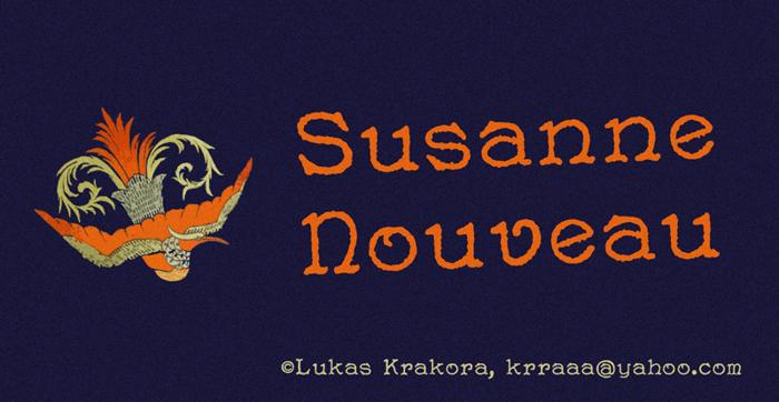 Susanne Nouveau Font poster