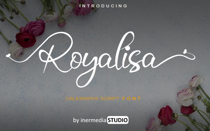 Royalisa Font poster