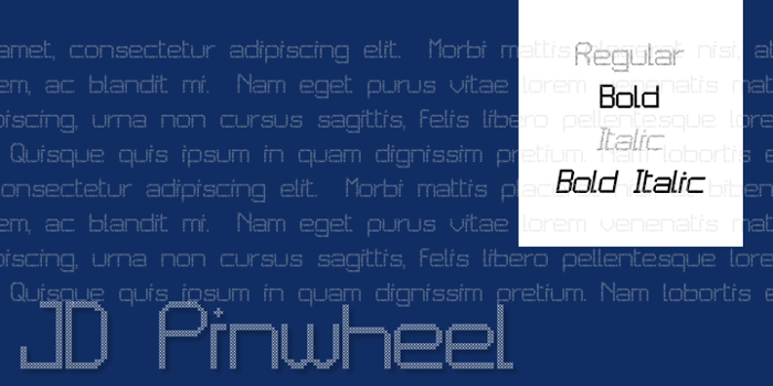 JD Pinwheel Font poster