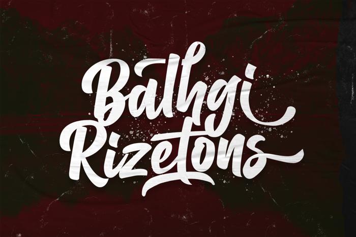 Balhgi Rizetons Font poster