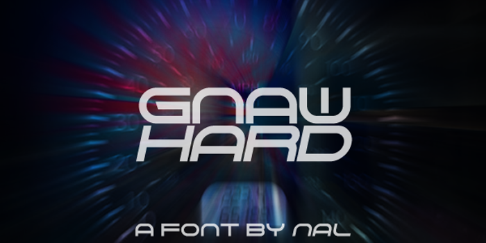 Gnaw Hard Font poster