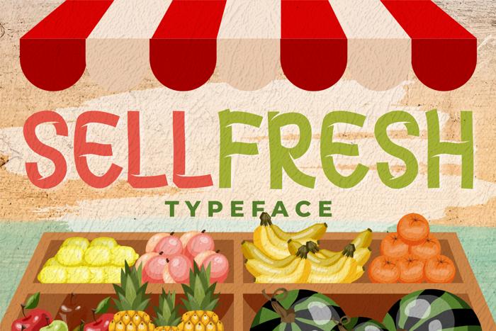 Sellfresh Font poster