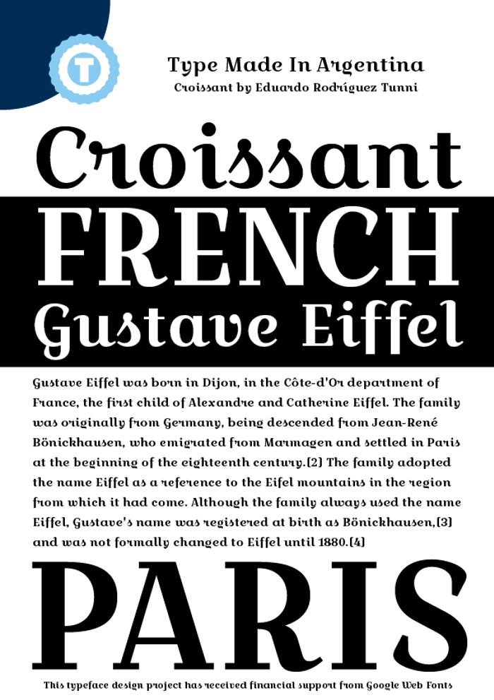 Croissant One Font poster