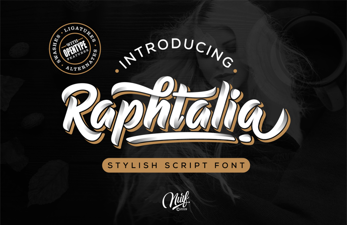 Raphtalia Font poster