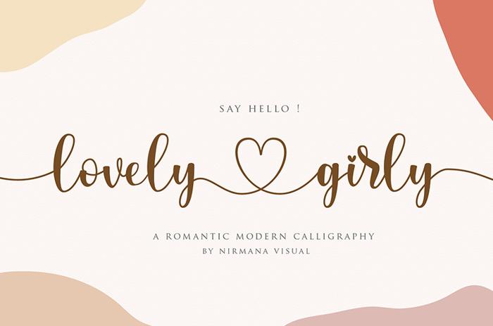 lovelygirly Font poster