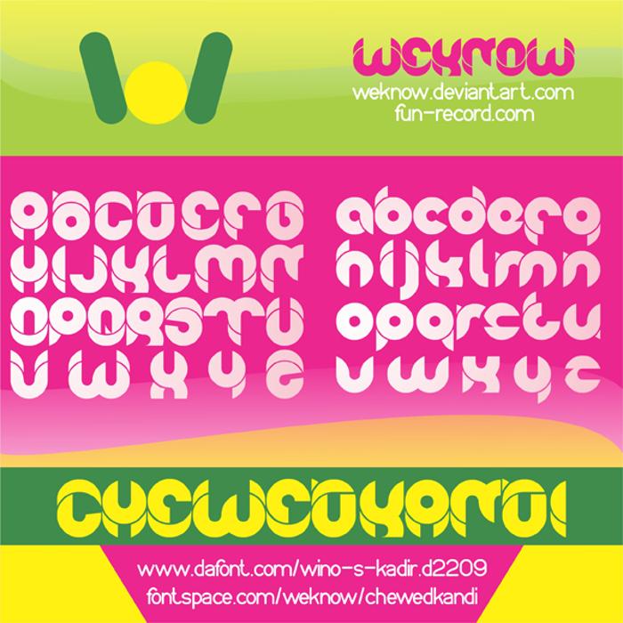 chewedkandi Font poster