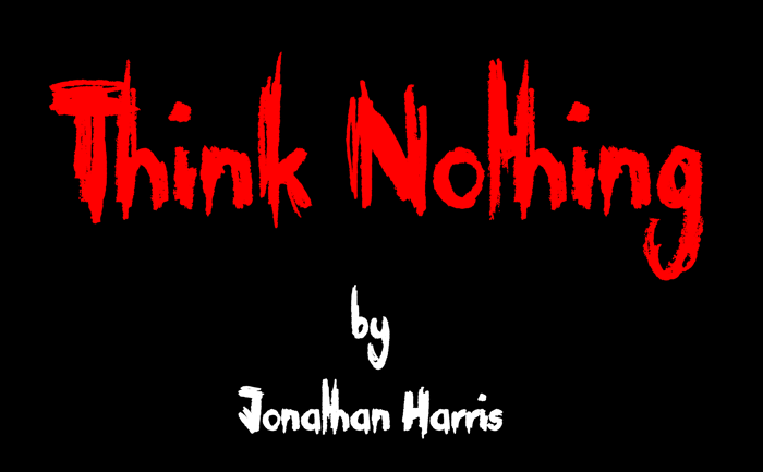 Think Nothing Font poster