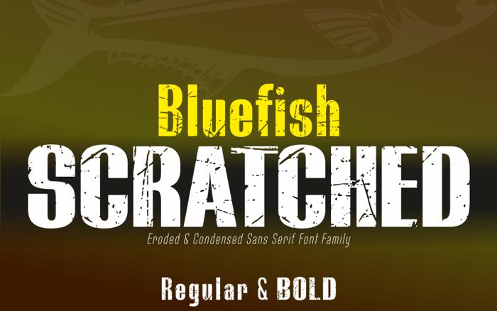 BLUEFISH SCRATCHED Demo Font poster